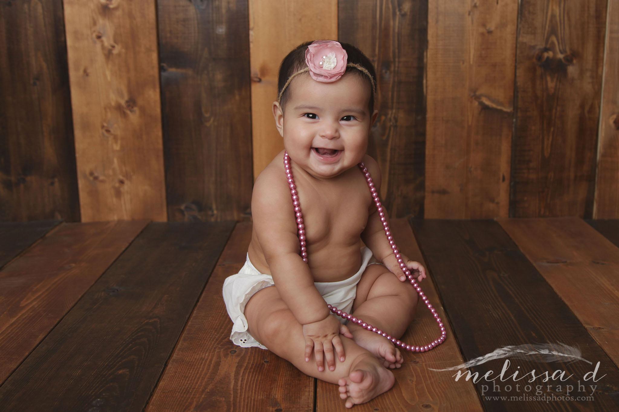 Fort Worth Baby Photographer pearls