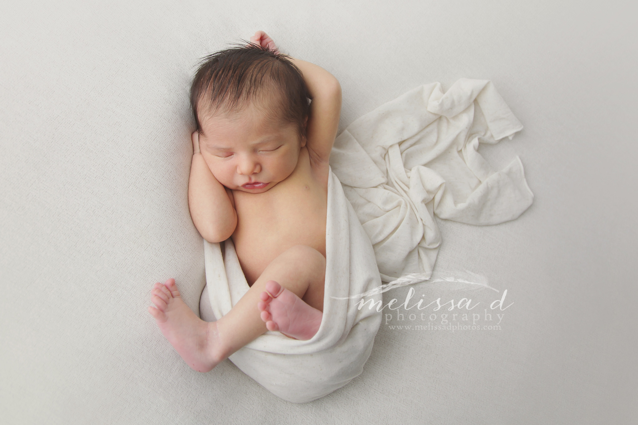 Fort Worth Newborn Photographer relaxed pose