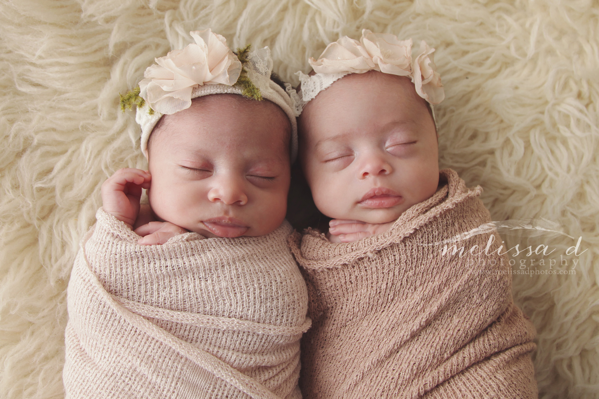 Ft. Worth Newborn Twin Photographer wrapped