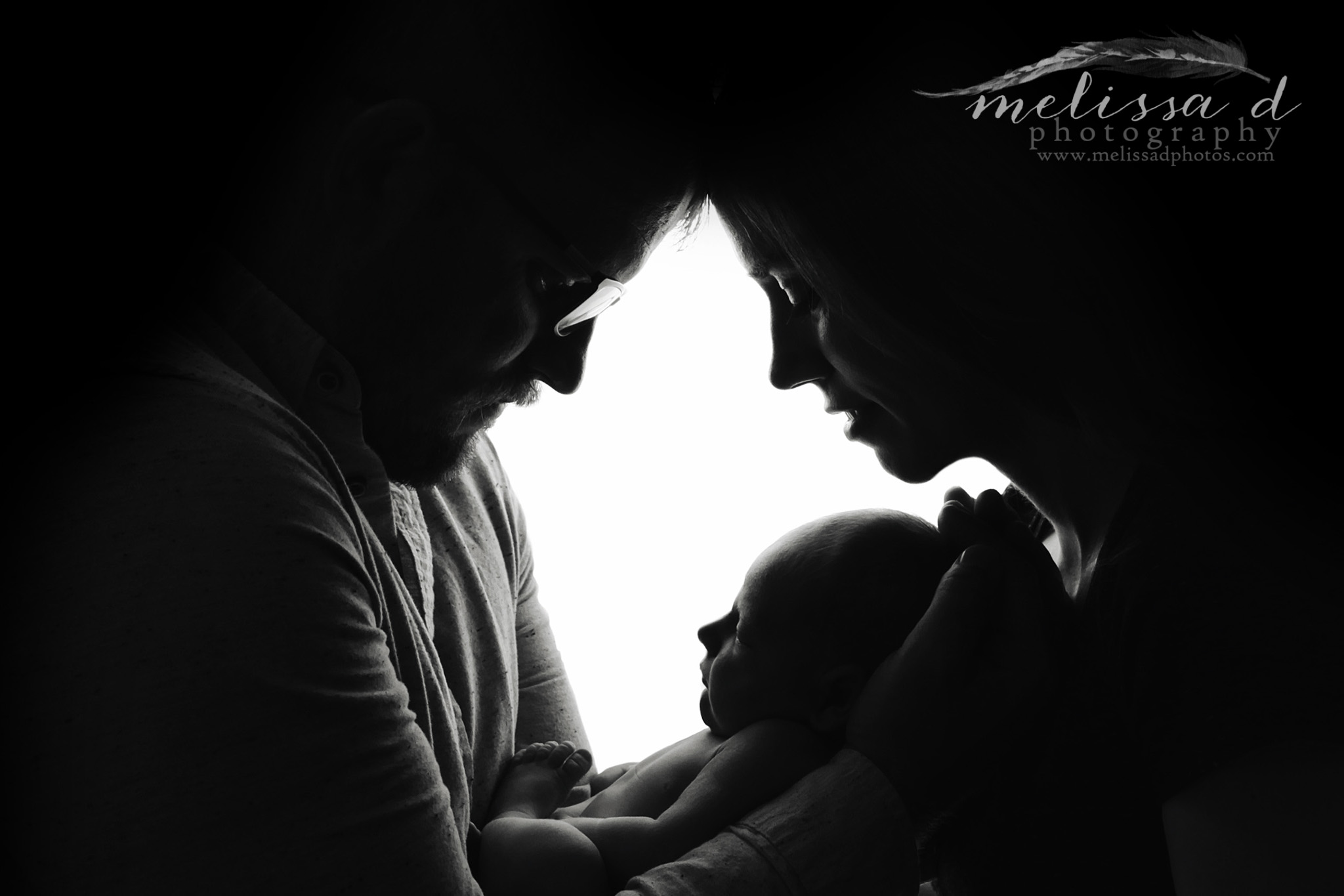 DFW Newborn Photographer silhouette