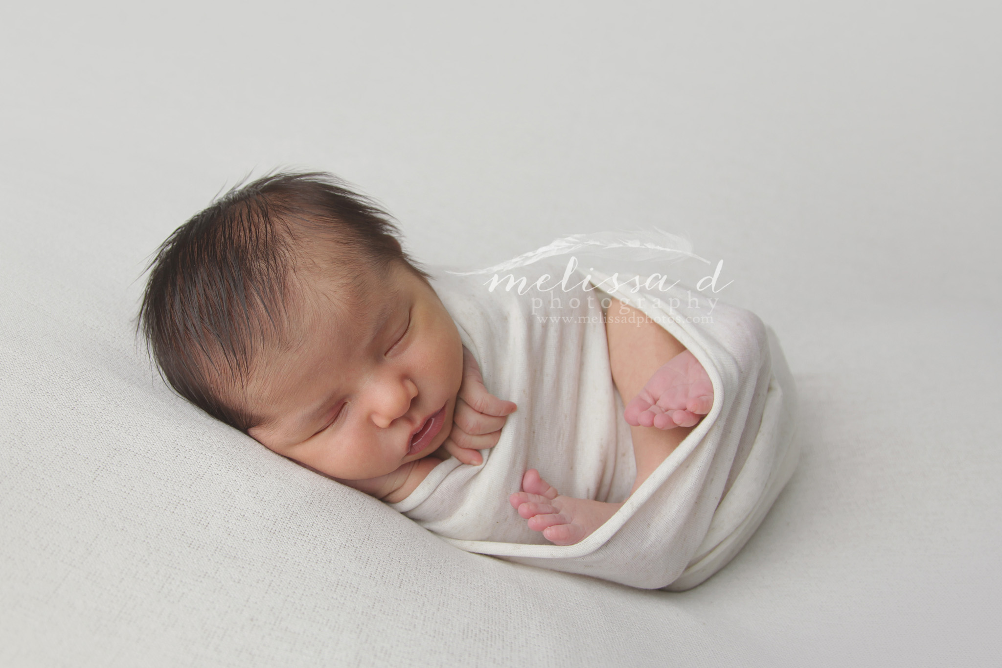Fort Worth Newborn Photographer swaddled