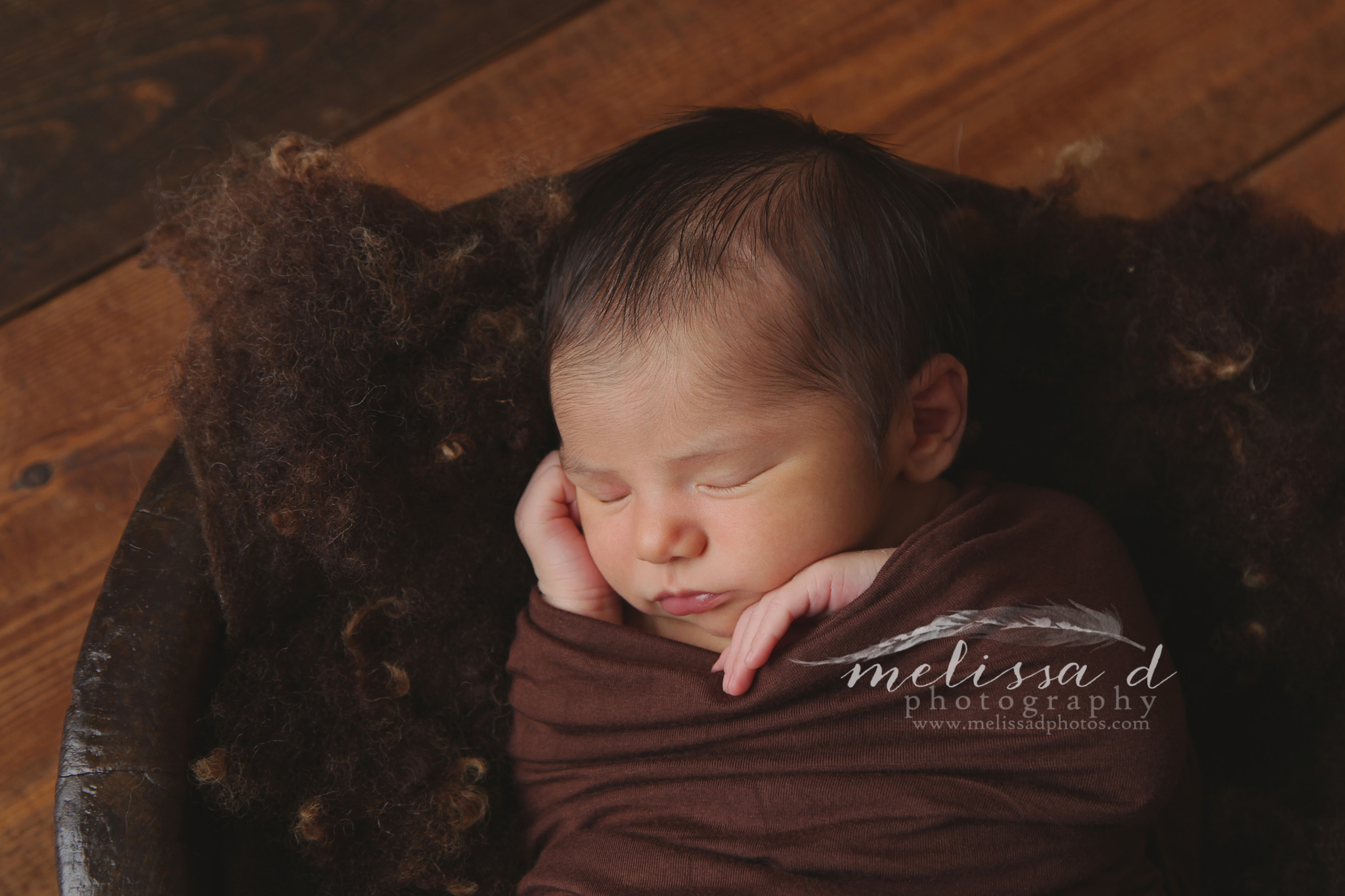 Fort Worth Newborn Photographer wood floor