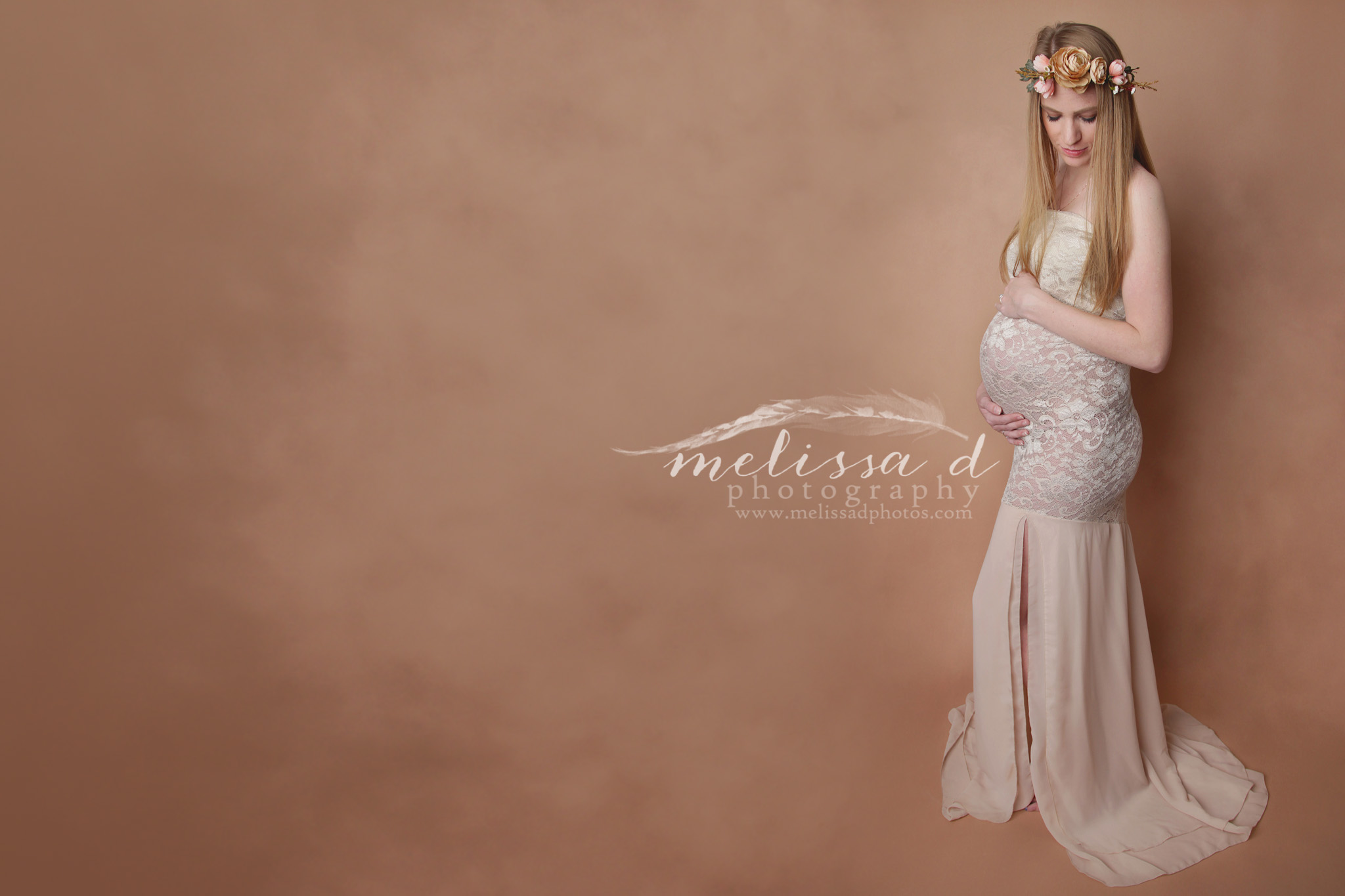 Fort Worth Maternity Photographer lace gown