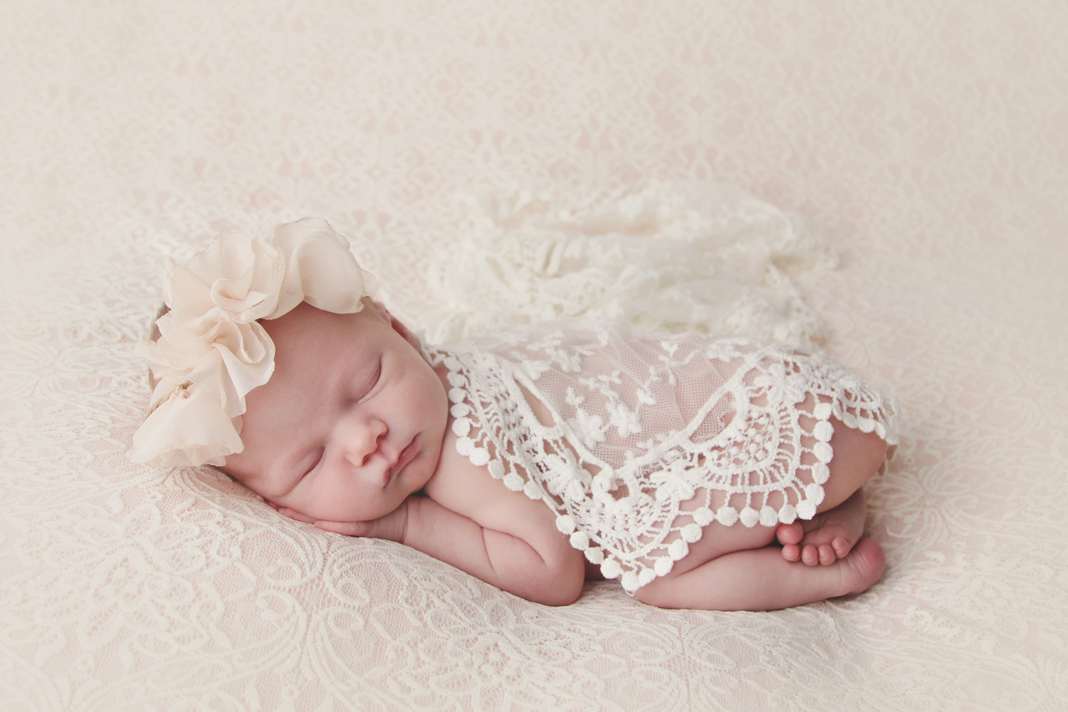 Fort Worth Newborn Photographer lace wrap