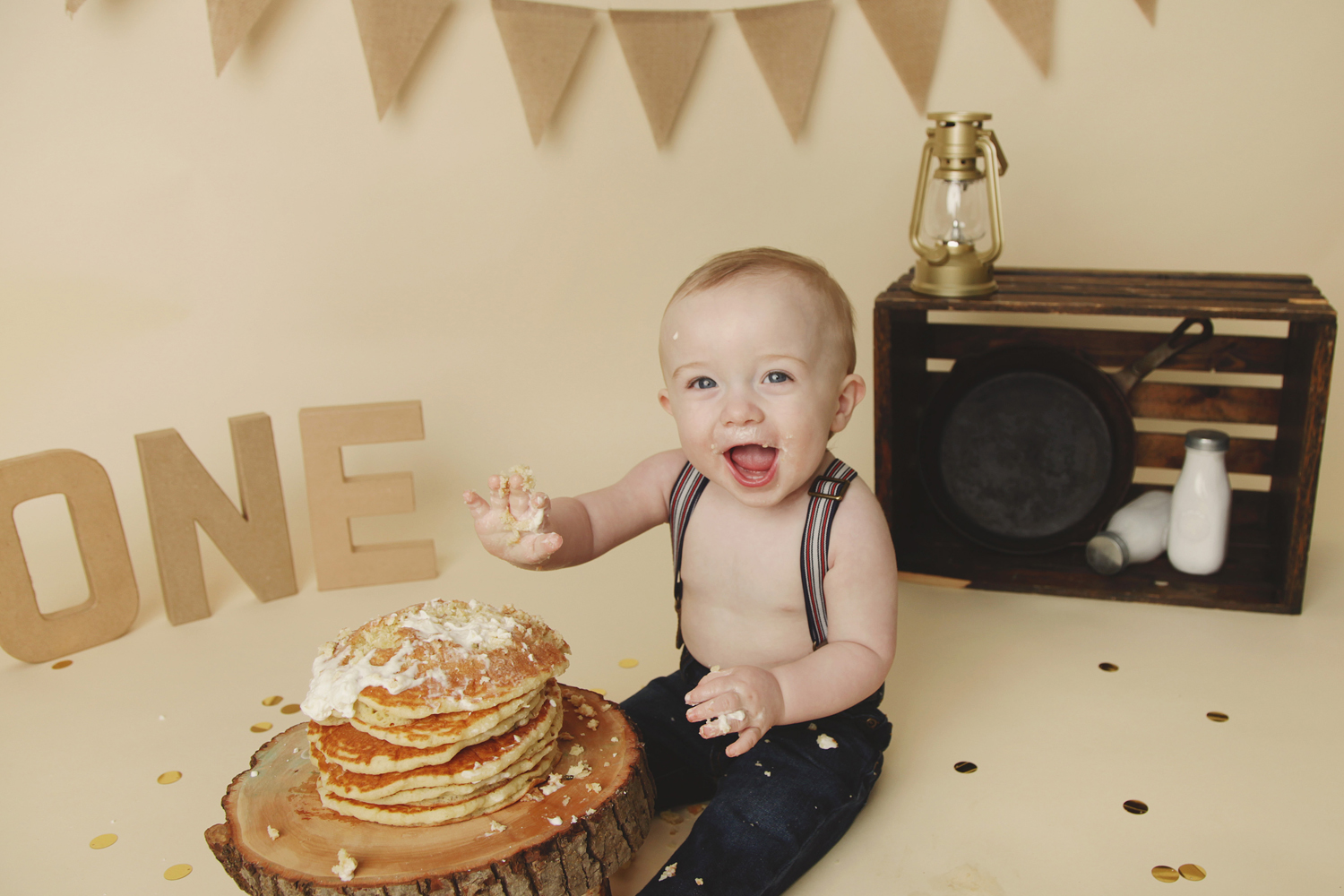 Fort Worth Baby Photographer pancake smash