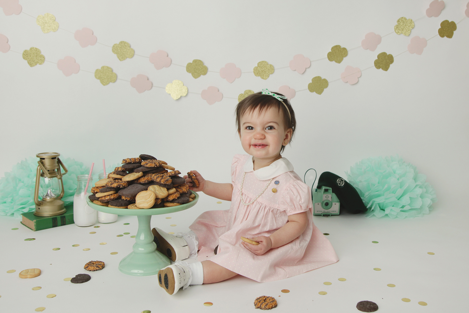 Fort Worth Baby Photographer cookie smash