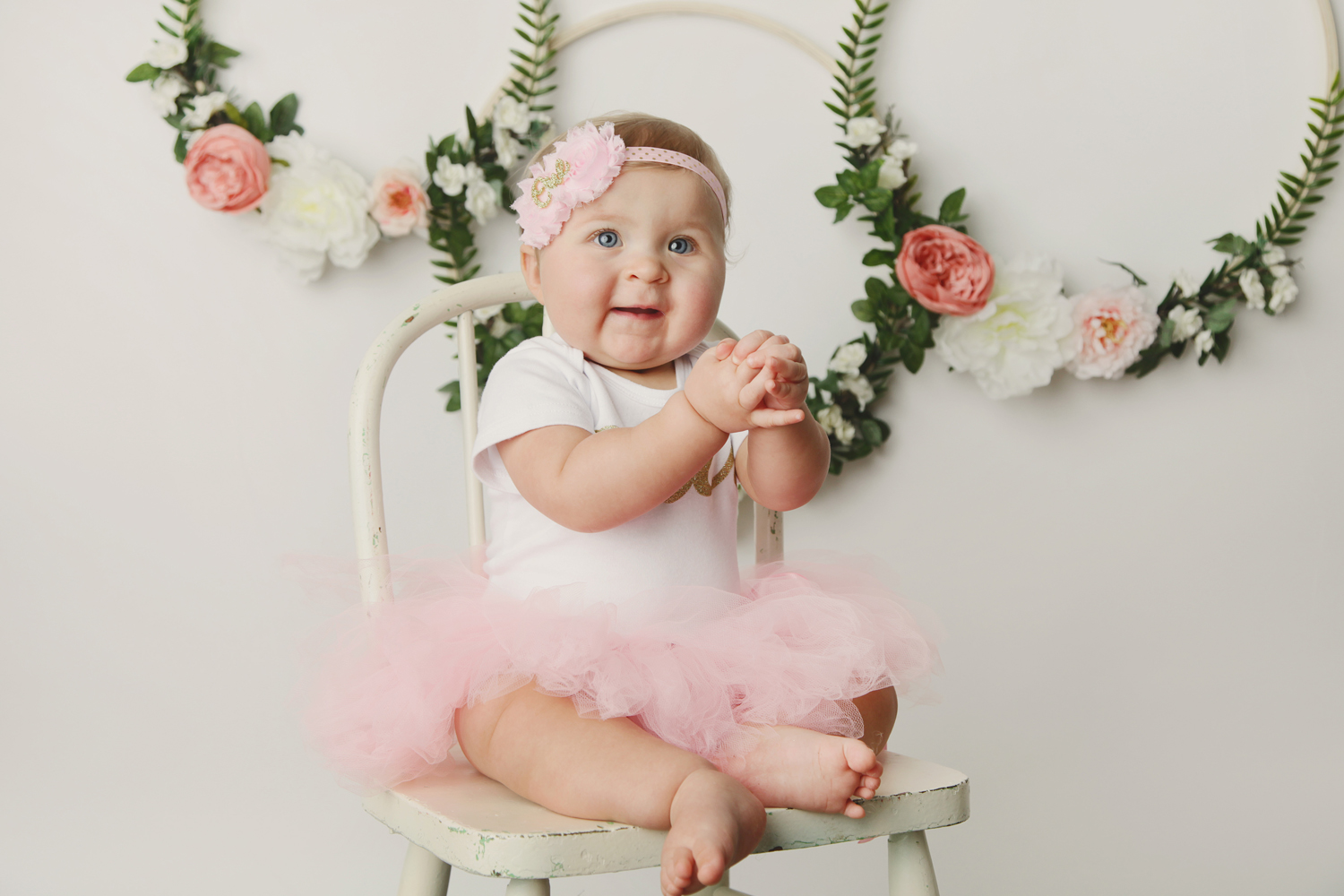 Fort Worth Baby Photographer floral hoops