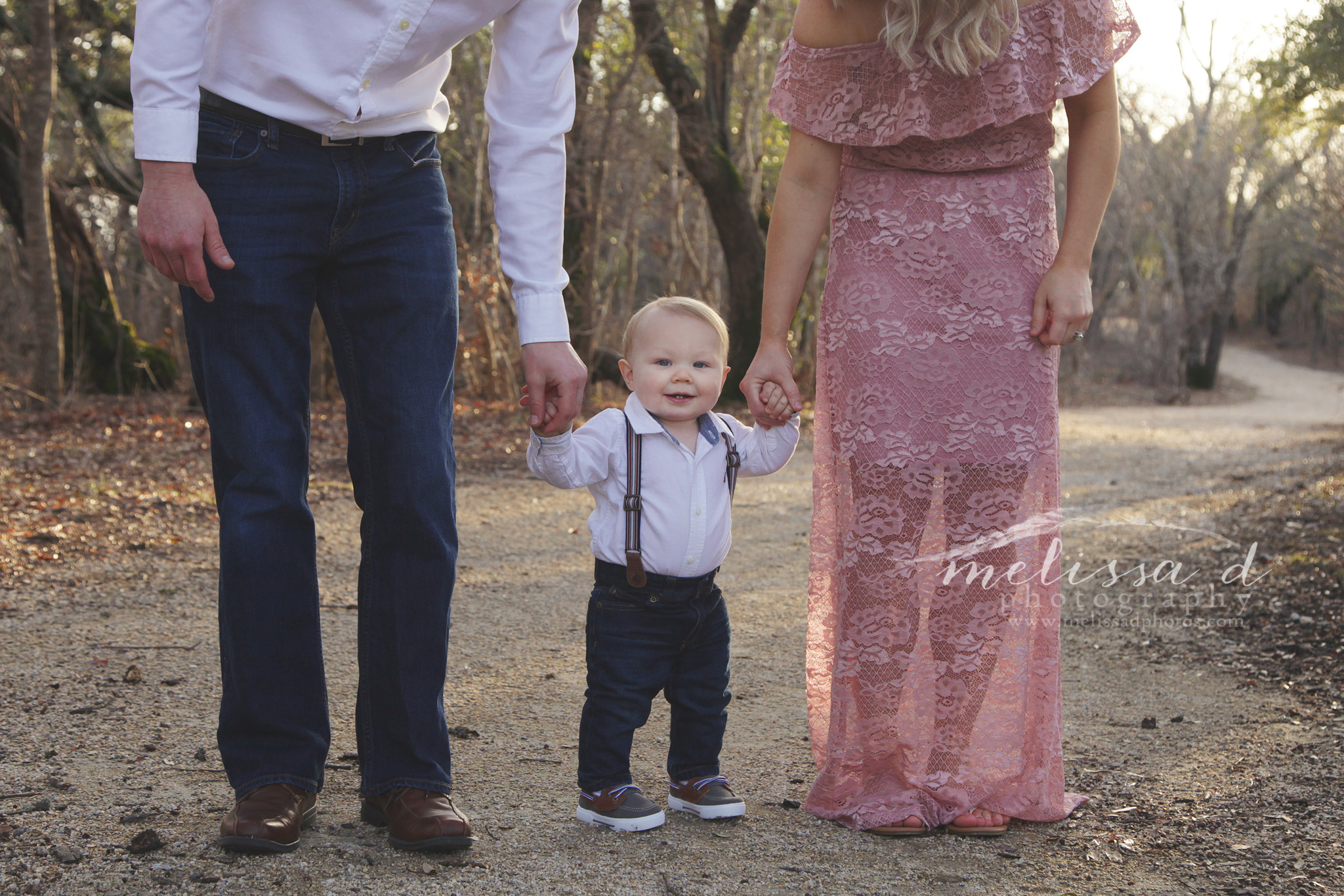 Ft. Worth Baby Photographer suspenders family pose