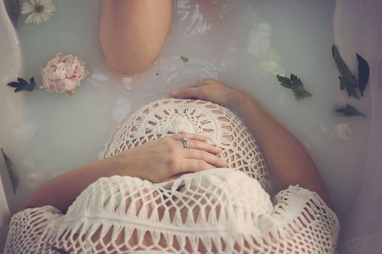 Fort Worth Maternity Photographer milk bath