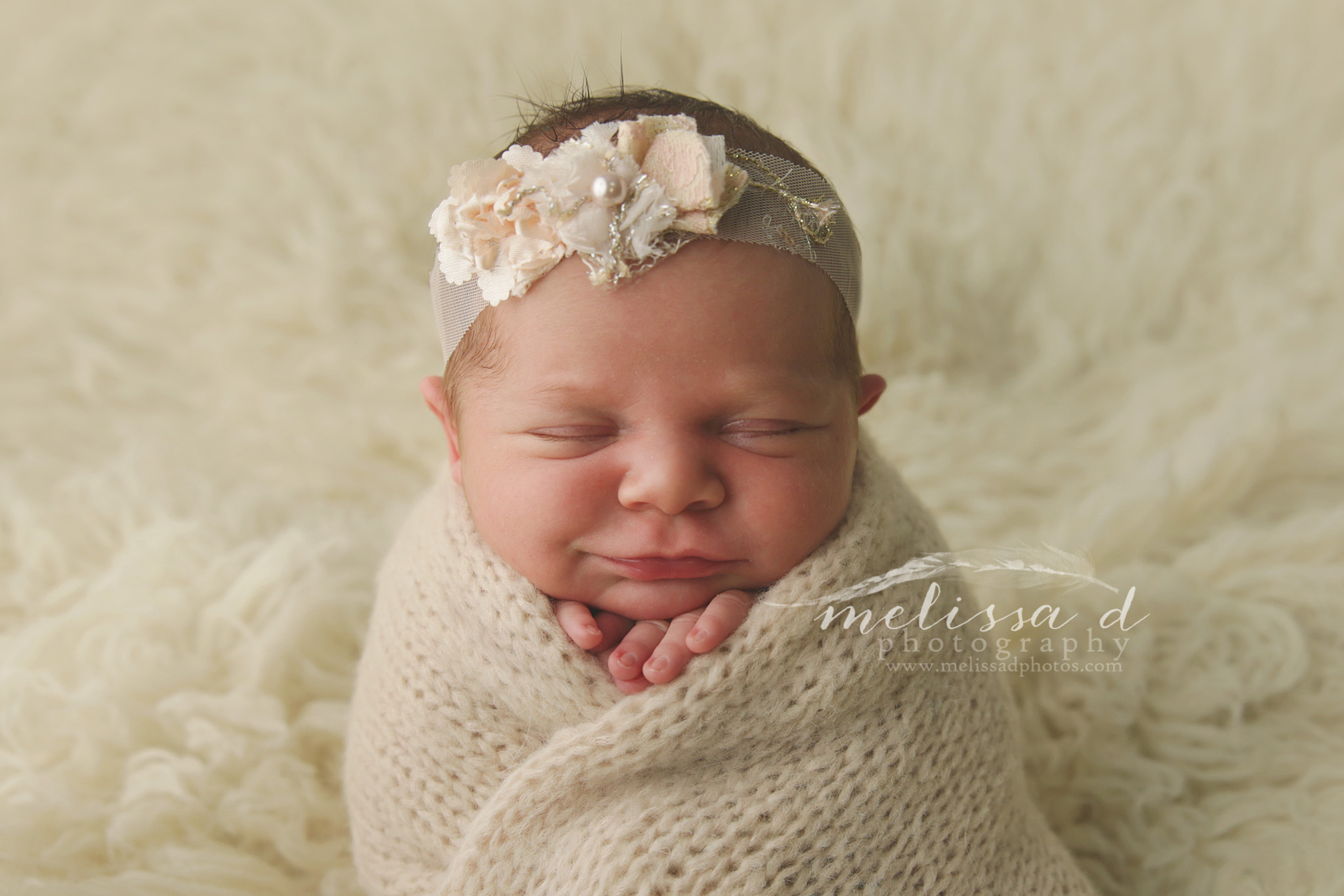 DFW Newborn Photographer knit wrap
