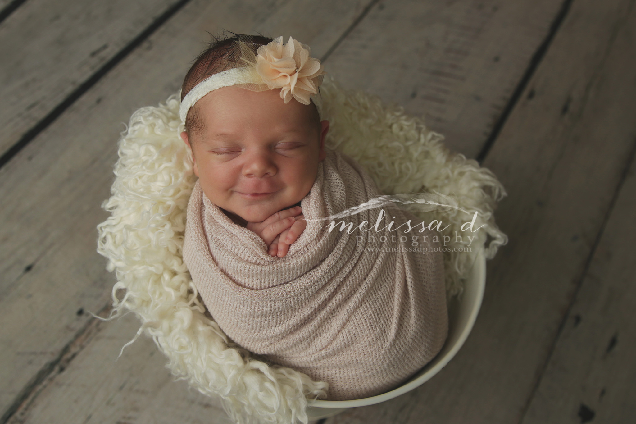 DFW Newborn Photographer bucket pose