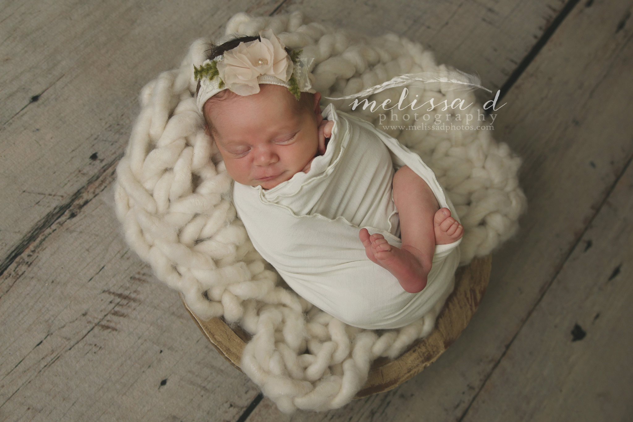 DFW Newborn Photographer chunky knitted layer