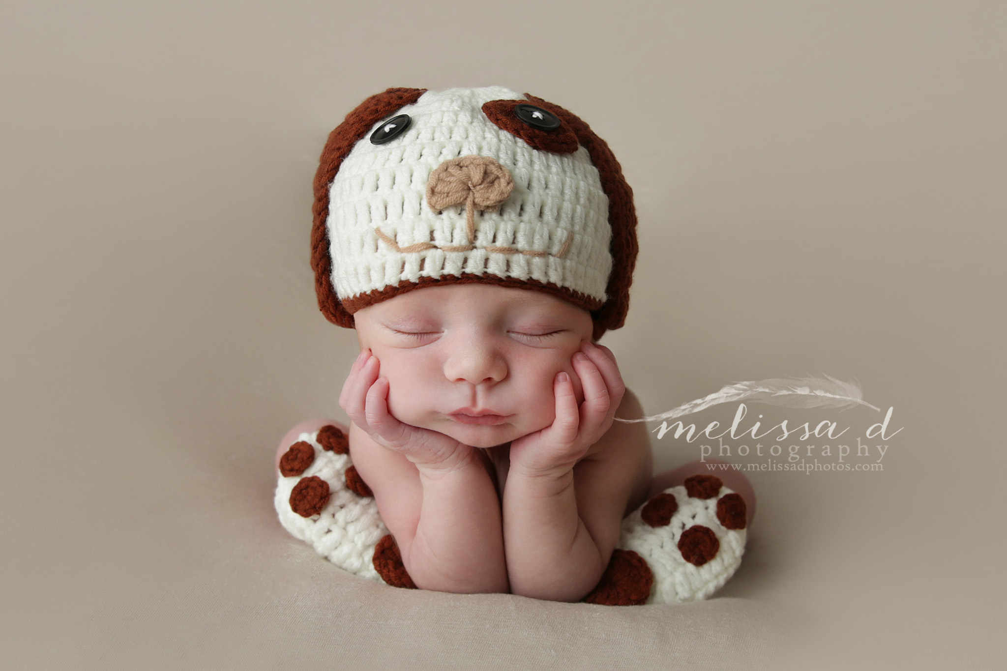 Ft. Worth Newborn Photographer puppy froggy pose