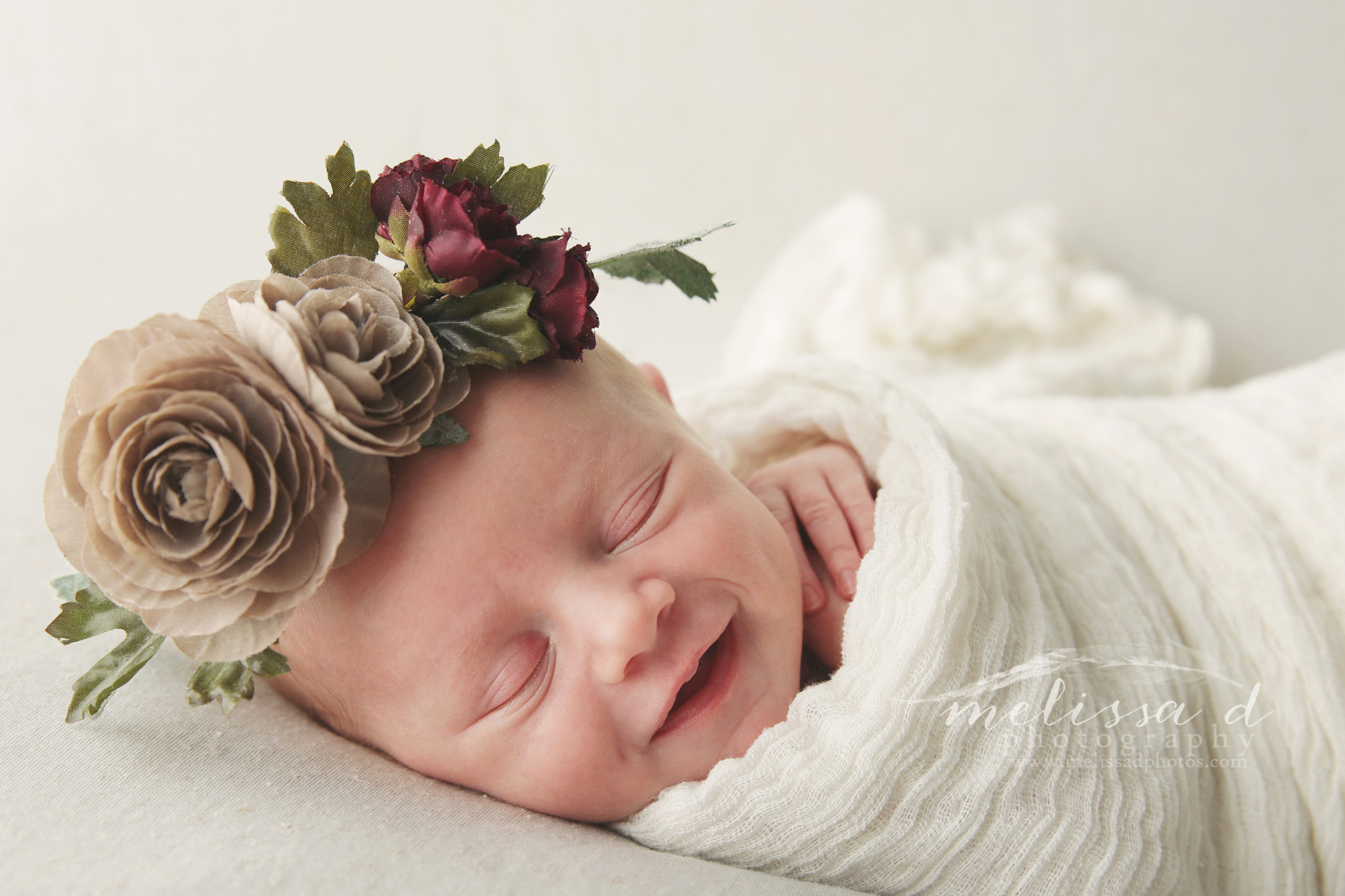Fort Worth Newborn Photographer floral crown