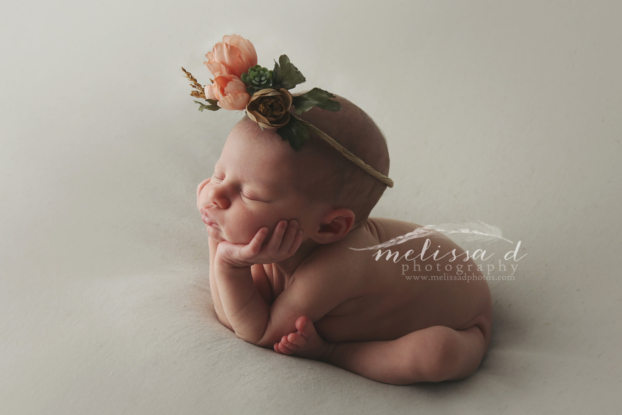 Fort Worth Newborn Photographer side froggy pose