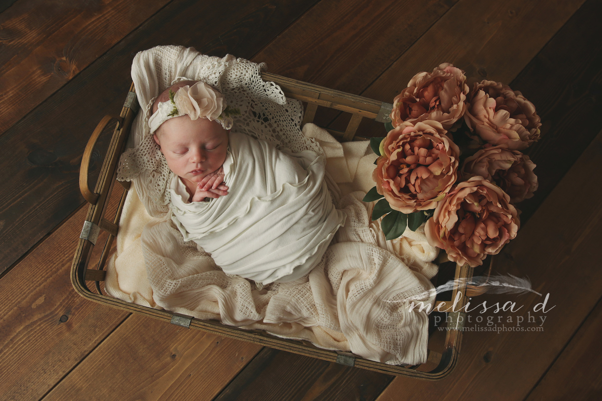 Fort Worth Newborn Photographer vintage flowers