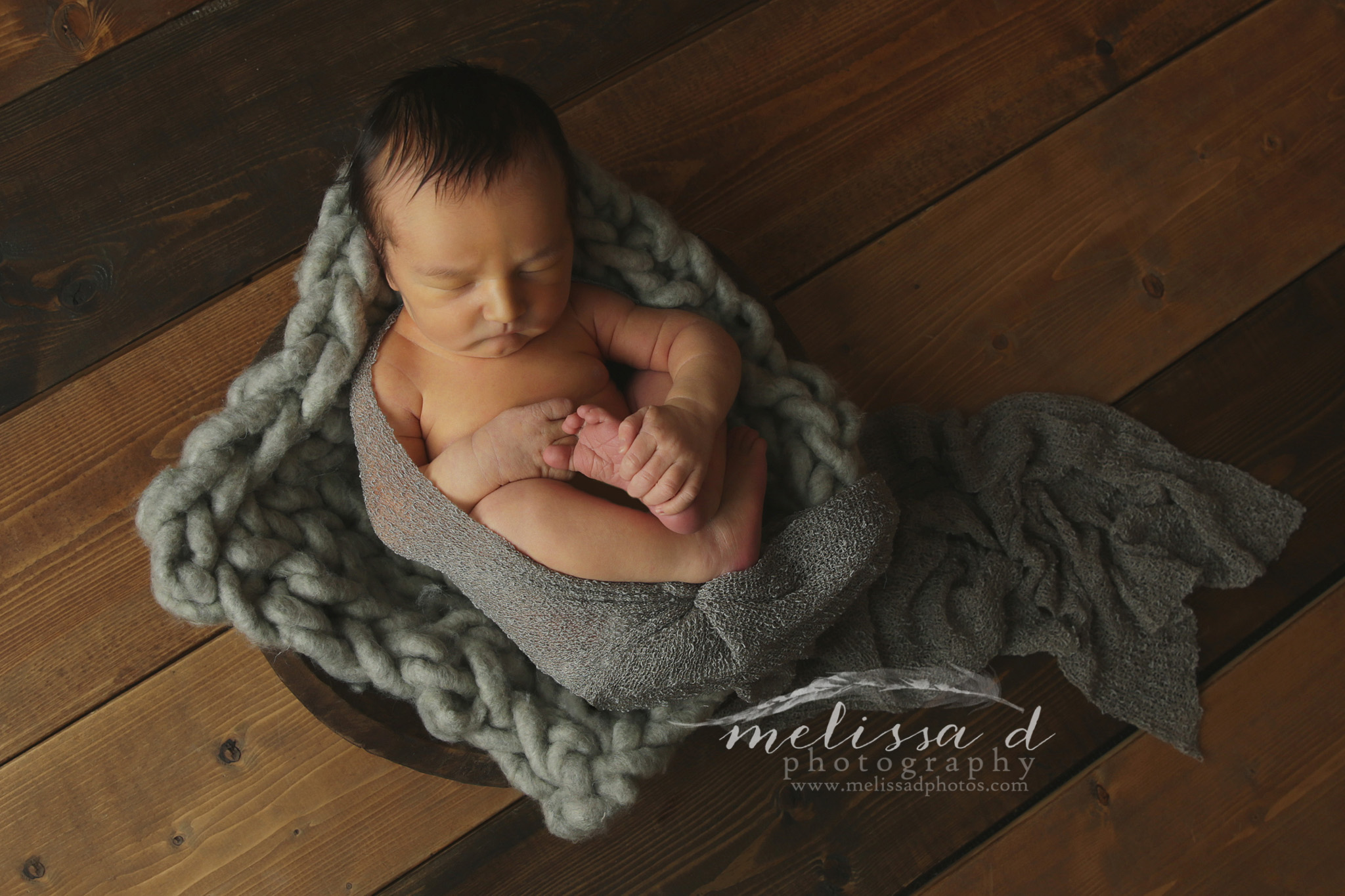 Dallas Newborn Photographer wood bowl prop