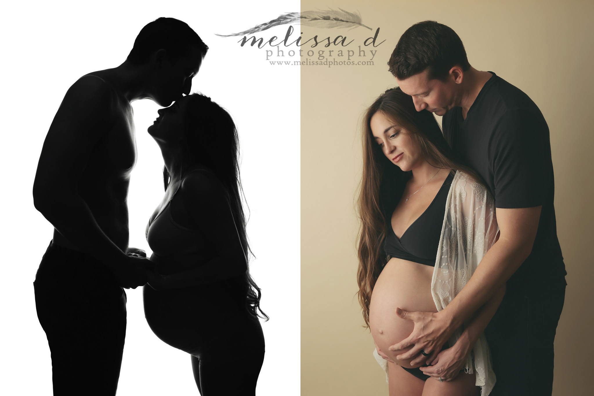 Fort Worth Maternity Photographer silhouette couple posing