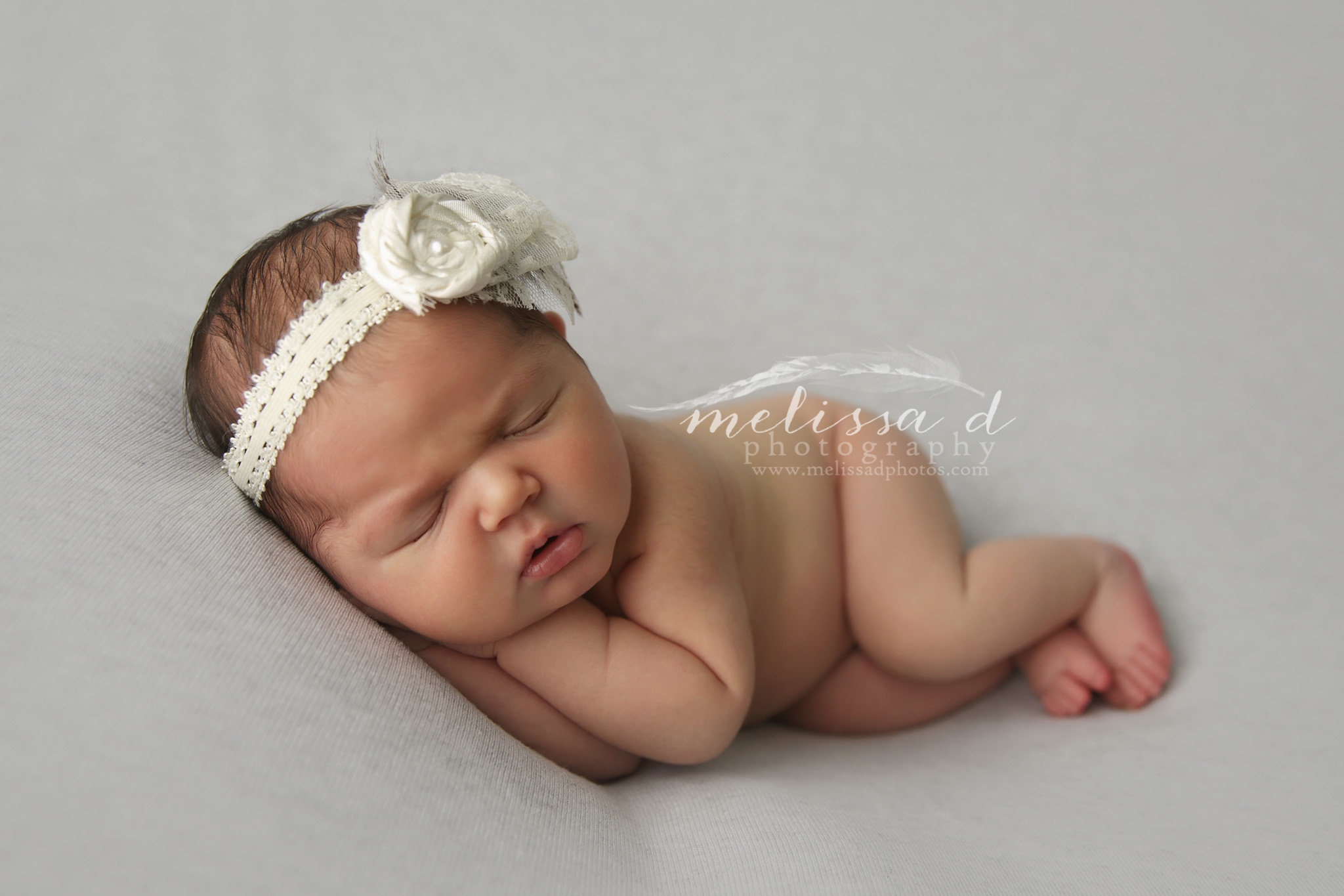 Ft. Worth Newborn Photographer side laying pose